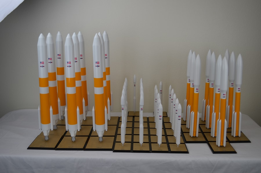 100th Scale Rocket Models