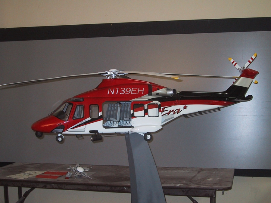 10th Scale AB139 Helicopter Model